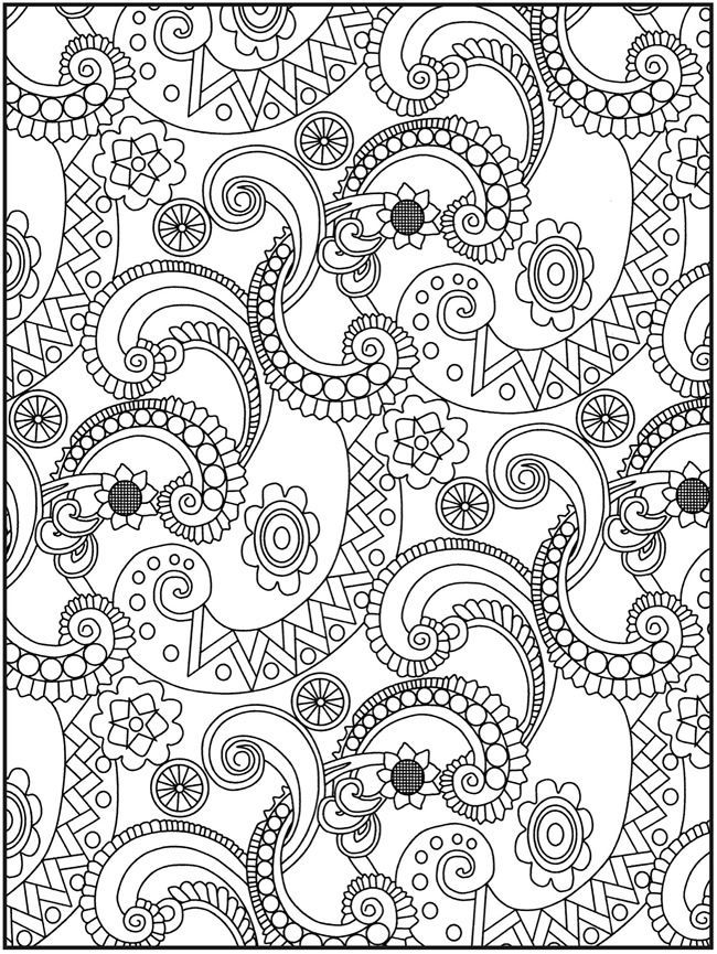Free Printable Paisley Coloring Pages For Adults ...