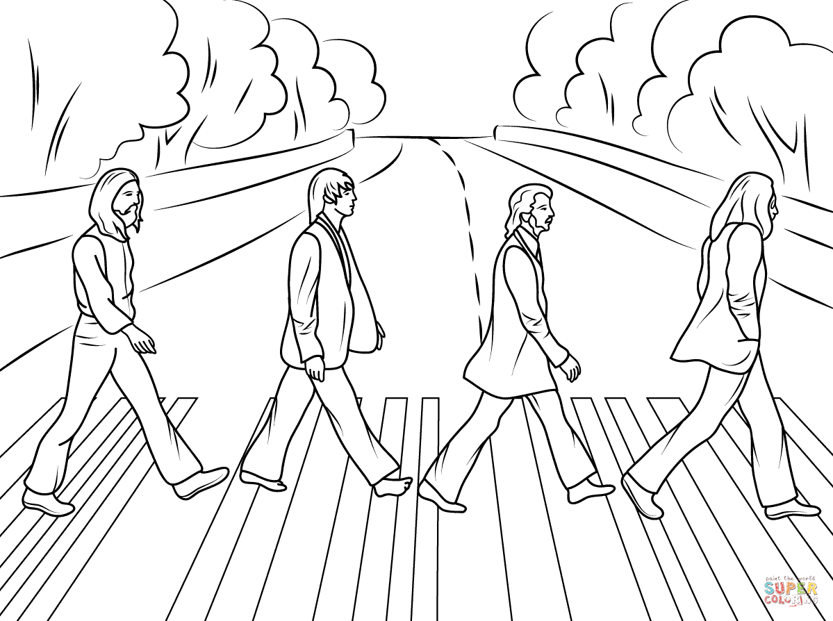 beatles coloring book pages high quality coloring pages - Beatles Coloring Book