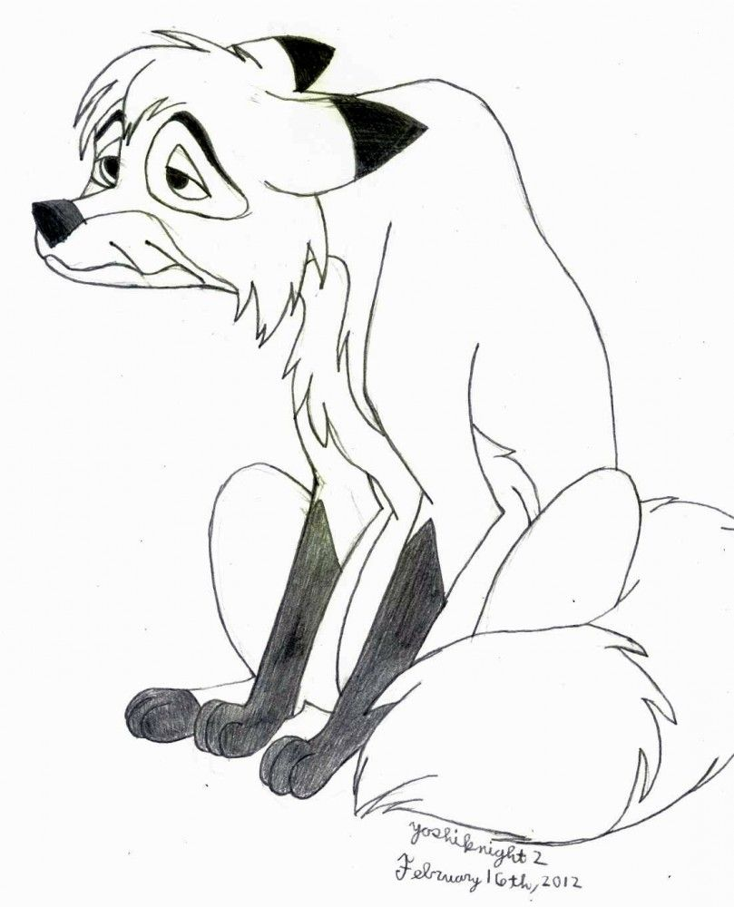 fox and hound coloring pages - photo#24