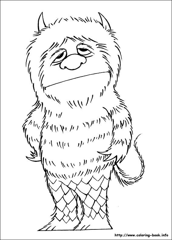 Where the wild things are coloring pages az coloring pages for Where the wild things are black and white coloring pages