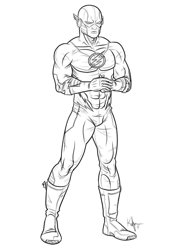 Superhero Flash Coloring Pages - Superhero Coloring Pages