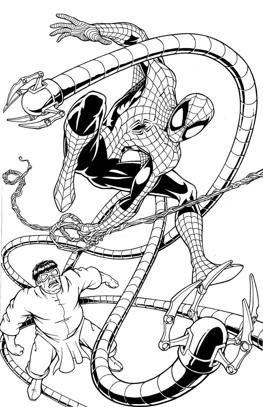 Free Coloring Pages Spiderman Vs Dr Octopus
