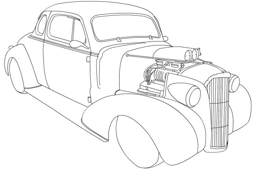 Rat Rod Coloring Pictures