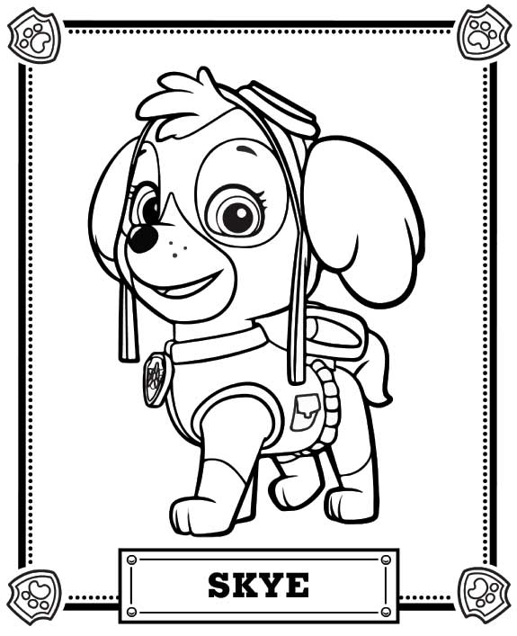 Paw Patrol Coloring Pages - Coloring Home