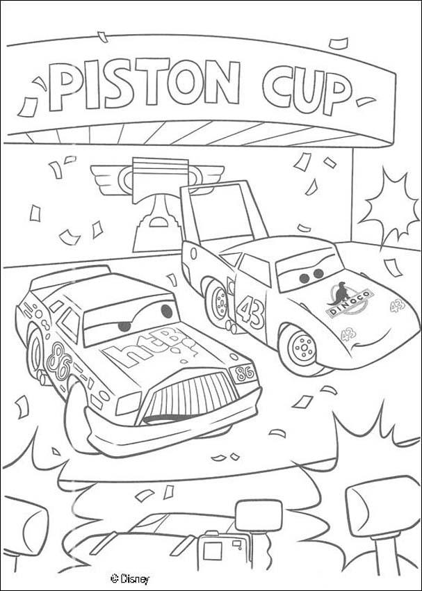 Cars coloring pages - Lightening McQueen - CARS 2