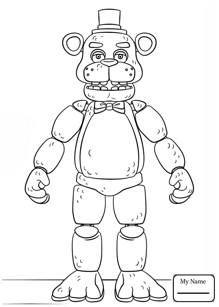 Coloring Book : Fabulous Five Nights At Freddys Coloring ...