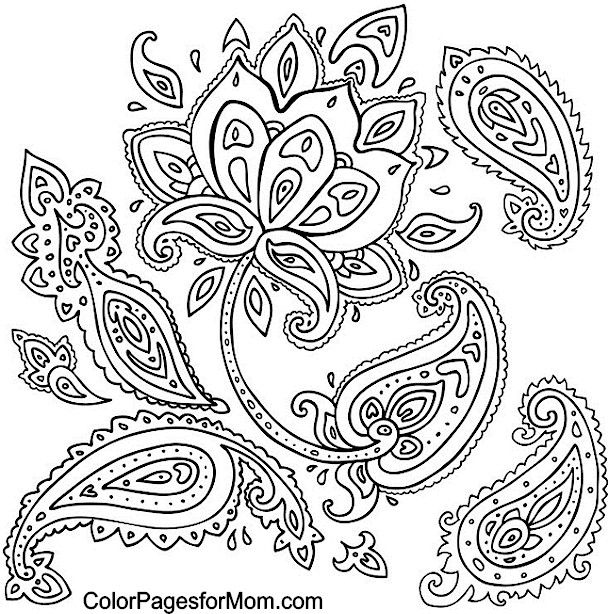 1000 ideas about paisley coloring pages on pinterest colouring