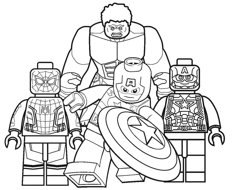 Lego Marvel Coloring Pages - Coloring Home