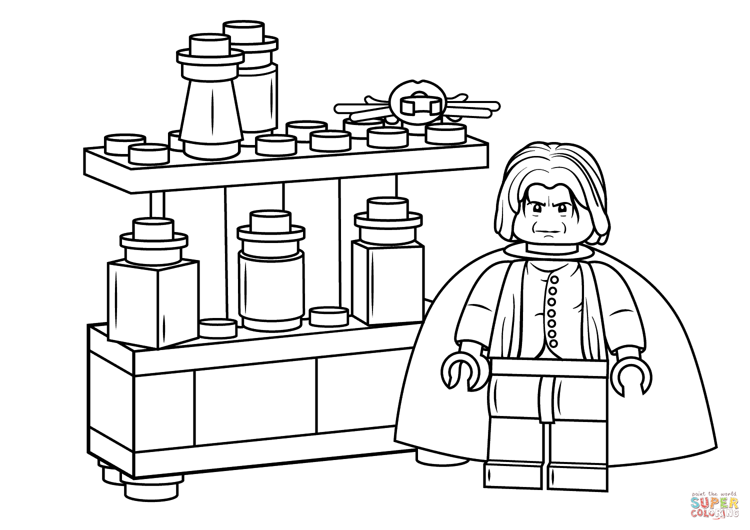 Lego Severus Snape Coloring Page