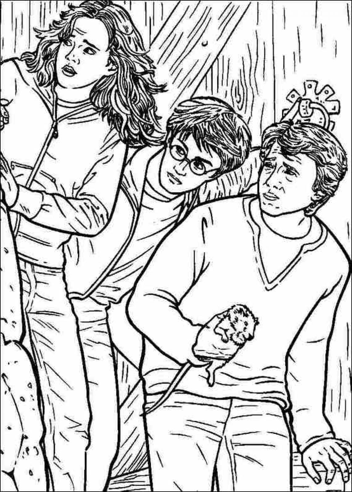 Harry potter coloring pages printable - Harry Potter Coloring Pages To Download And Print For Free