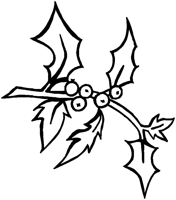 christmas holly coloring pages printable free coloring pages