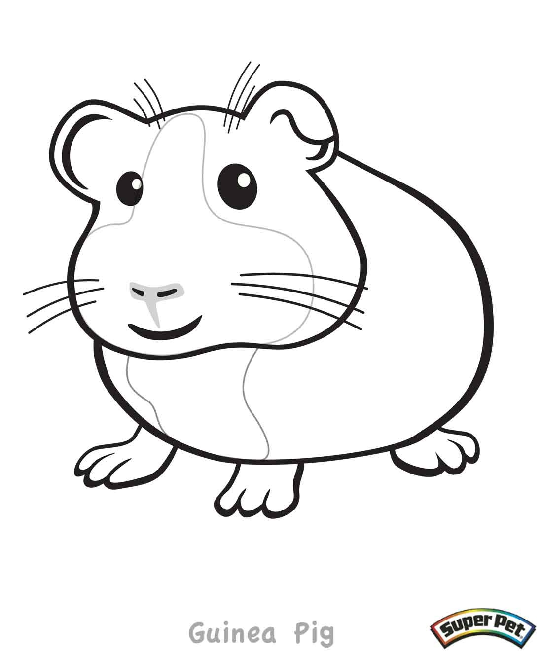 It is a graphic of Comprehensive Coloring Pages Of Guinea Pigs Homes