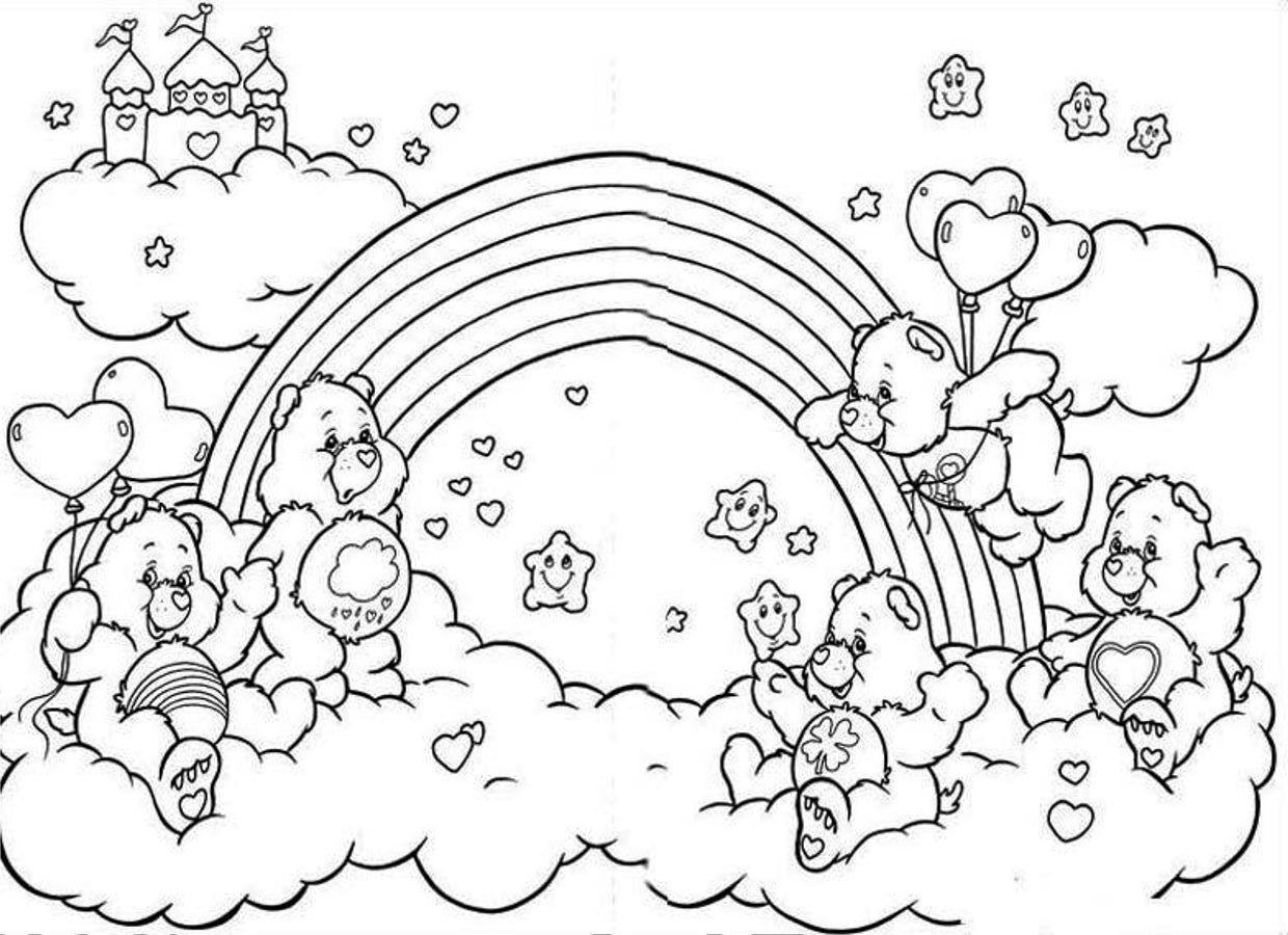 Coloring Pages Rainbow : Unicorn rainbow coloring pages az
