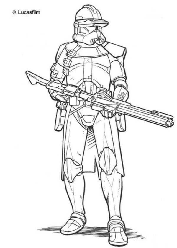 Star Wars Stormtrooper Clone Wars Coloring Pages - Action Coloring ...