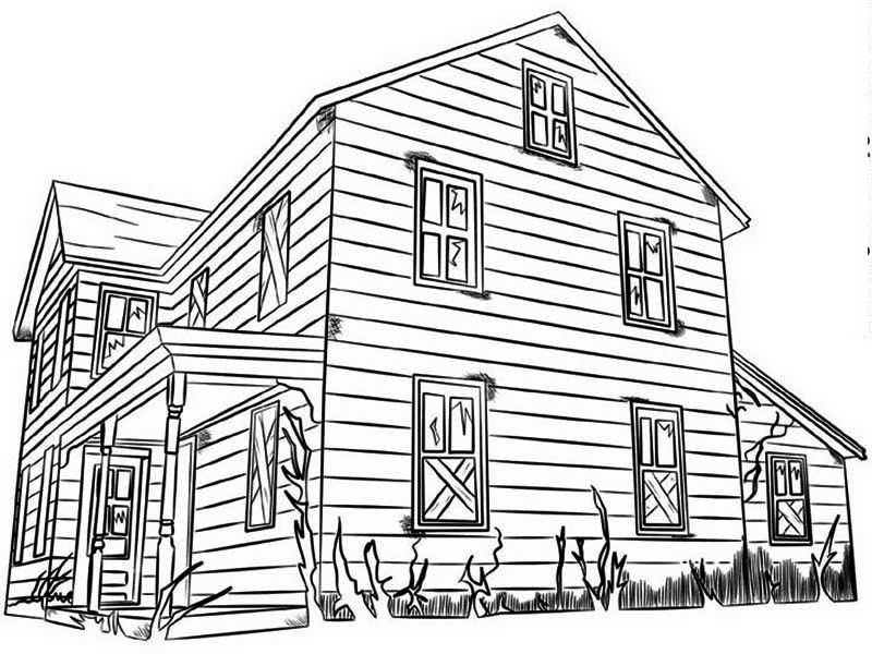 Full House Coloring Pages To Print