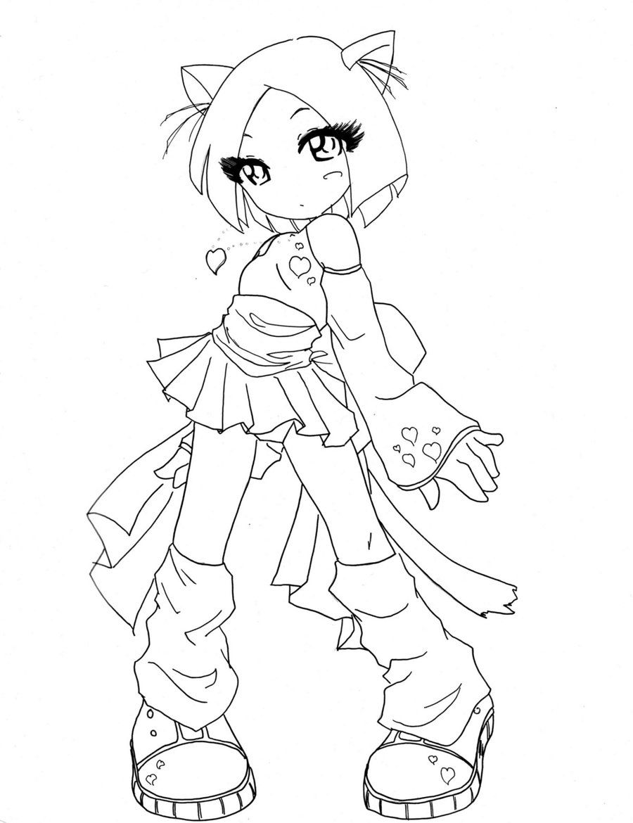 13 Pics Of Cute Anime Chibi Cat Girl Coloring Pages - Cute ...
