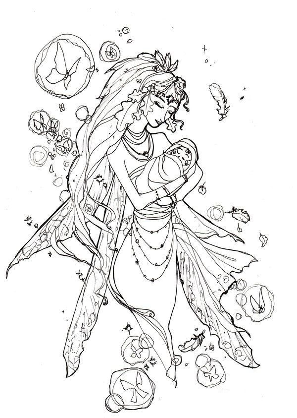 Evil Fairy Coloring Pages For Adults