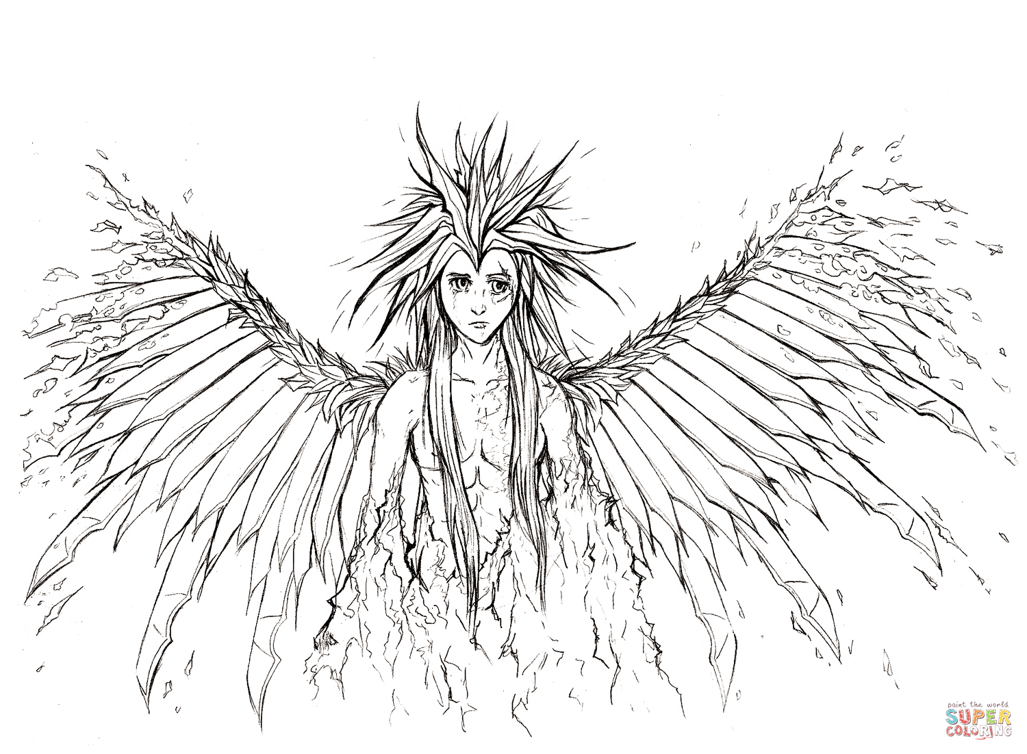 Angel Wings Coloring Pages To Print