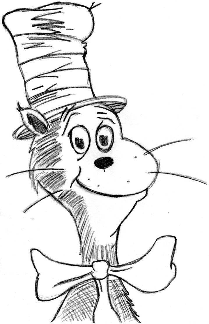 Printable Coloring Pages Cat In The Hat Coloring Home