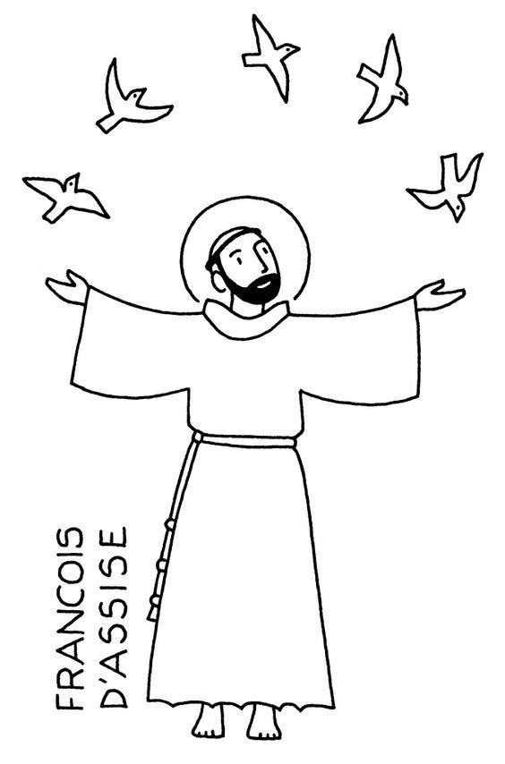 All Saints Coloring Pages Coloring Home St Francis Of Assisi Coloring Page