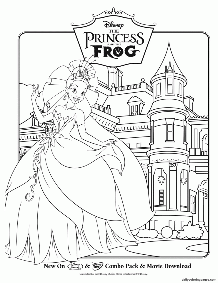 princess and the frog coloring pages to print | RYNAKIMLEY