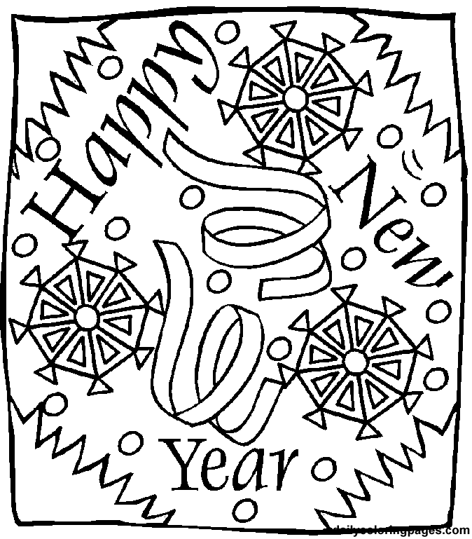 new years eve coloring pages - photo#8