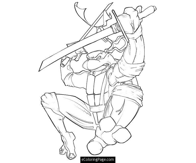 Teenage Mutant Ninja Turtles Leonardo Coloring Pages for Kids