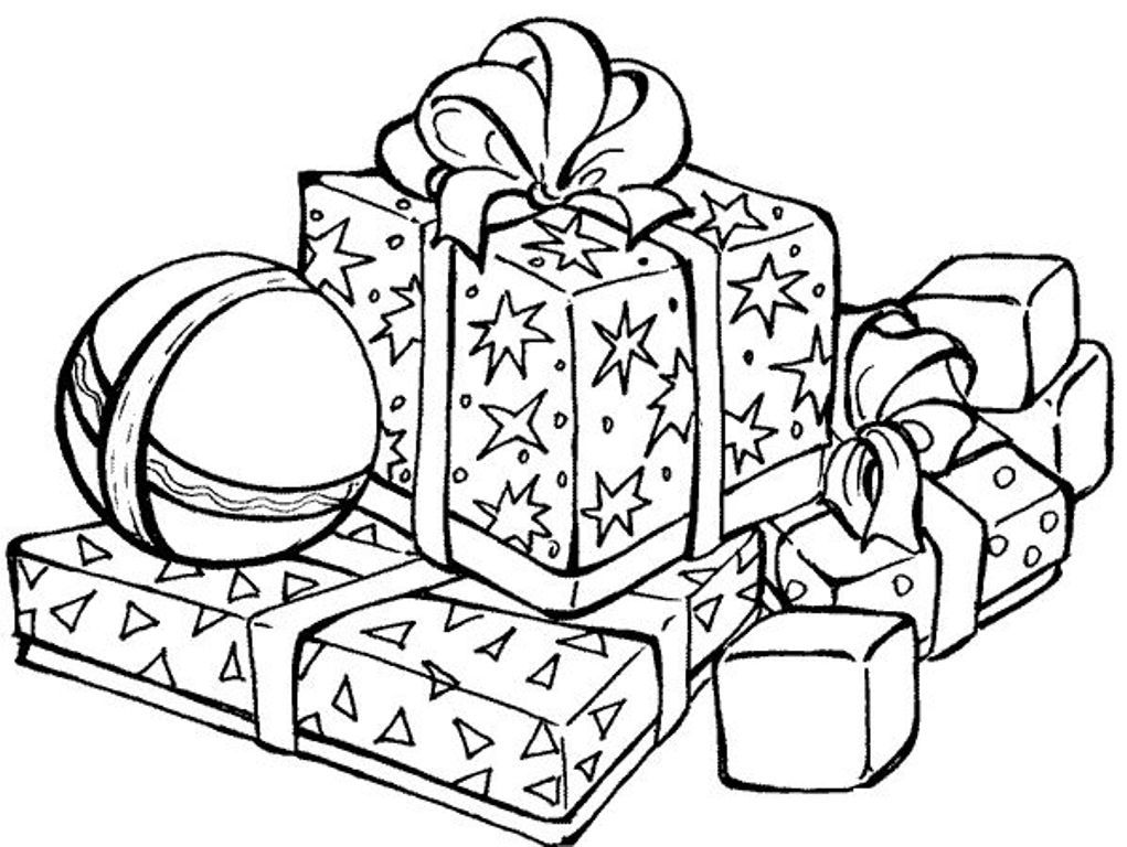 Presents Coloring Page - Coloring Home