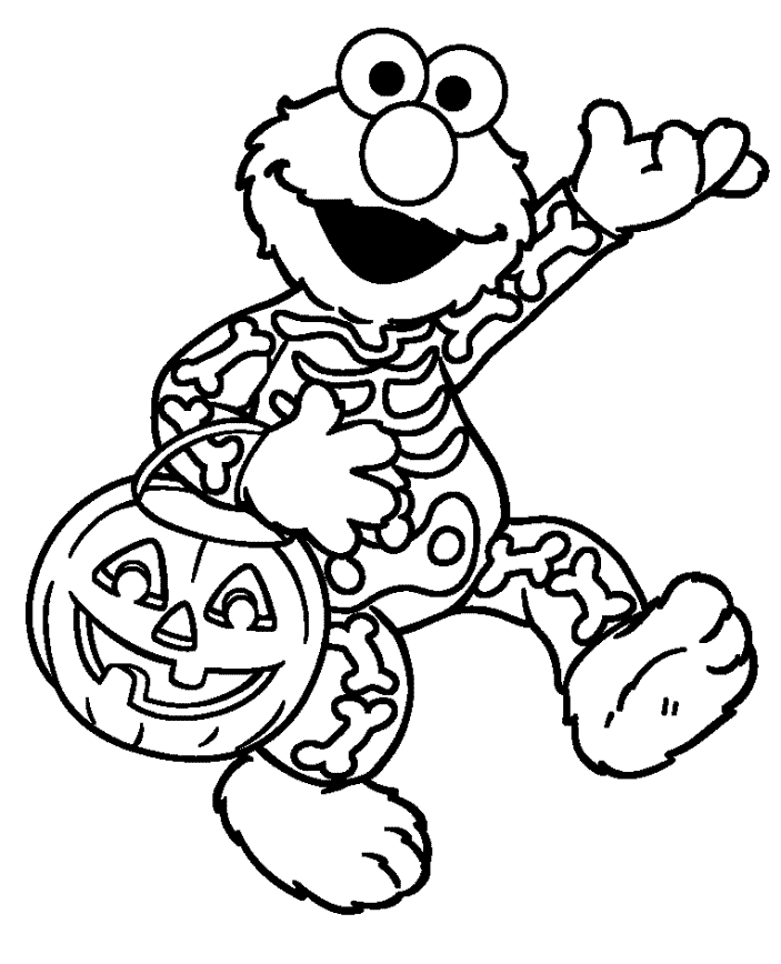 Elmo Halloween Coloring Pages | Other | Kids Coloring Pages Printable