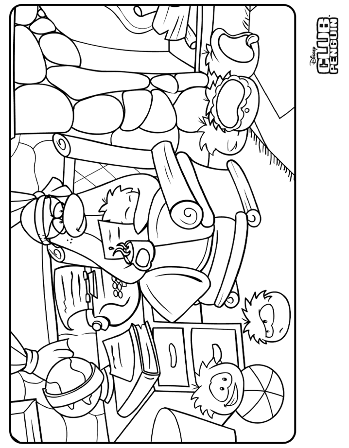 club penquin coloring pages - photo#28