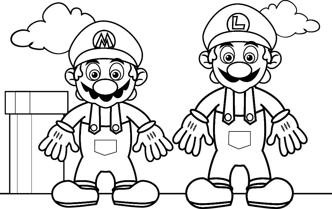 luigi coloring pages printable - photo#25