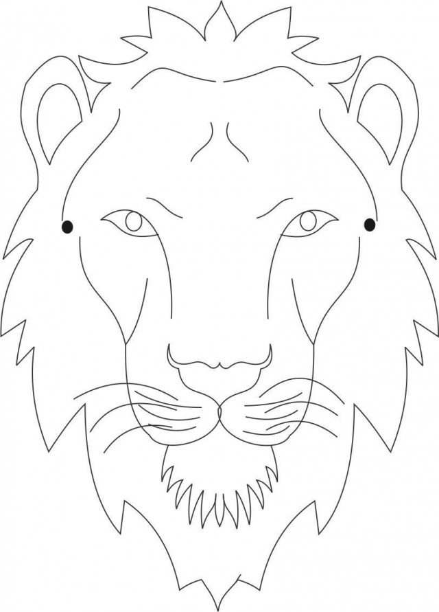 Lion face coloring page az coloring pages for Lion mask coloring page