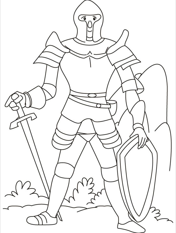 Medieval Knight Coloring Pages