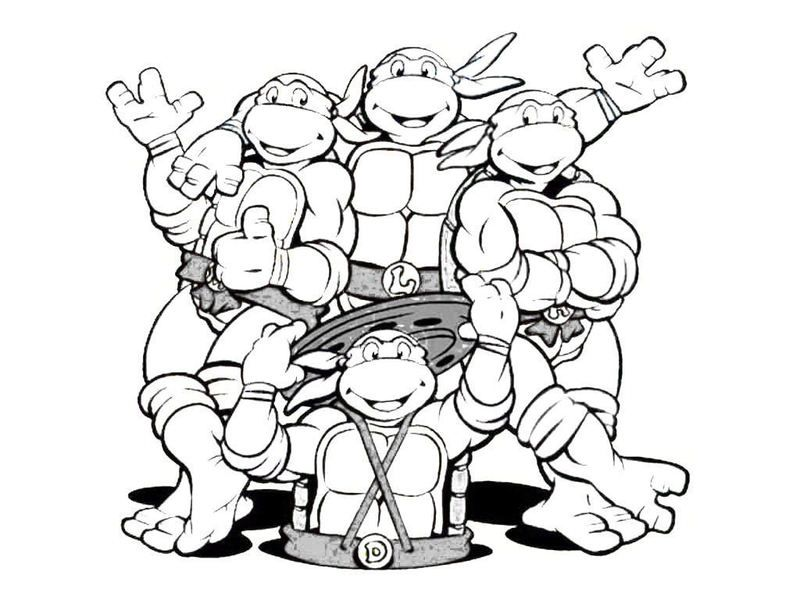 Coloring Pages Baby Ninja Turtles : Ninja Turtle Coloring Pages Coloring Home