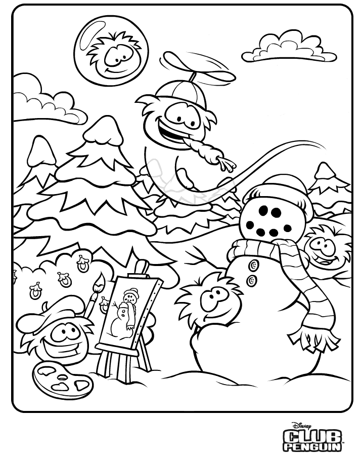 Club Penguin Coloring Page - Coloring Home