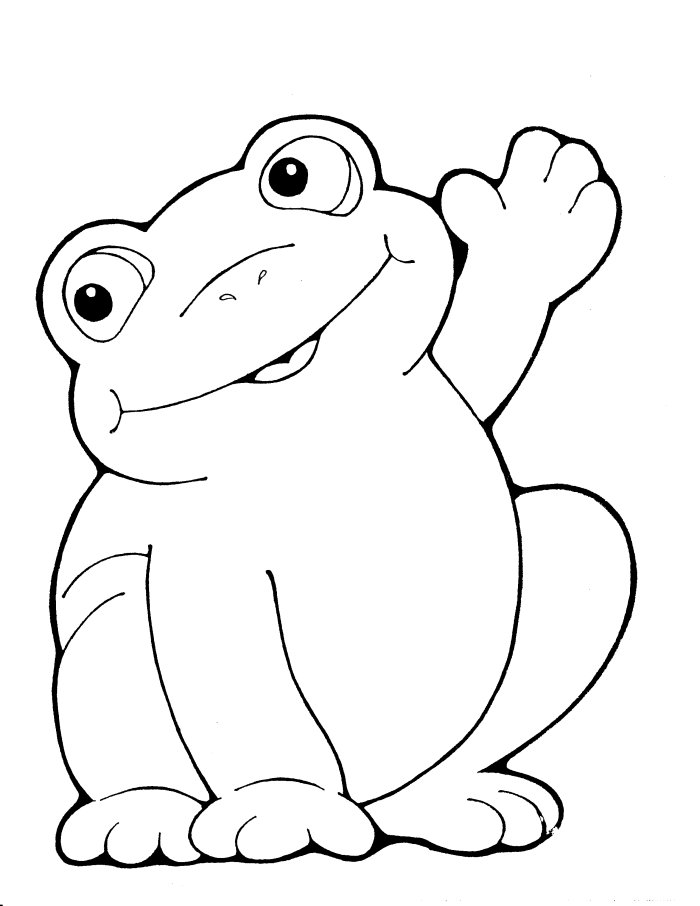 free baby frog coloring pages - photo#12