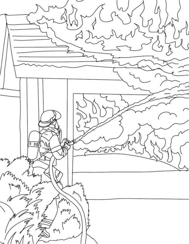 Fire station coloring pages az coloring pages for Fire station coloring page