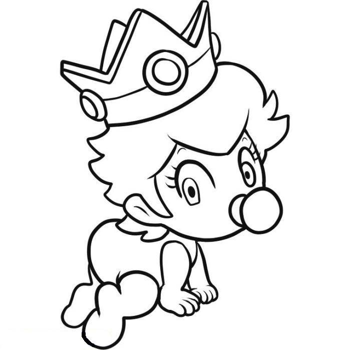Princess Peach Color Page Coloring Home Princess Mario Kart Coloring Pages Free Coloring Sheets
