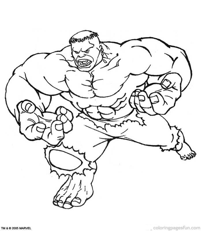Pictures Of The Hulk  Coloring Home