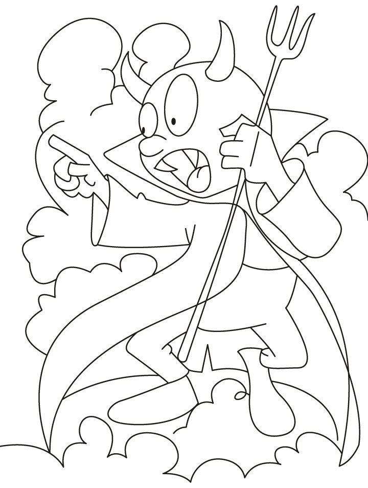 Baby tasmanian devil cartoon az coloring pages for Devil coloring pages