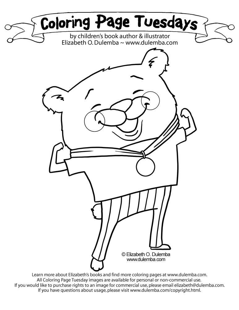 dulemba: Coloring Page Tuesday - Olympic Bear!