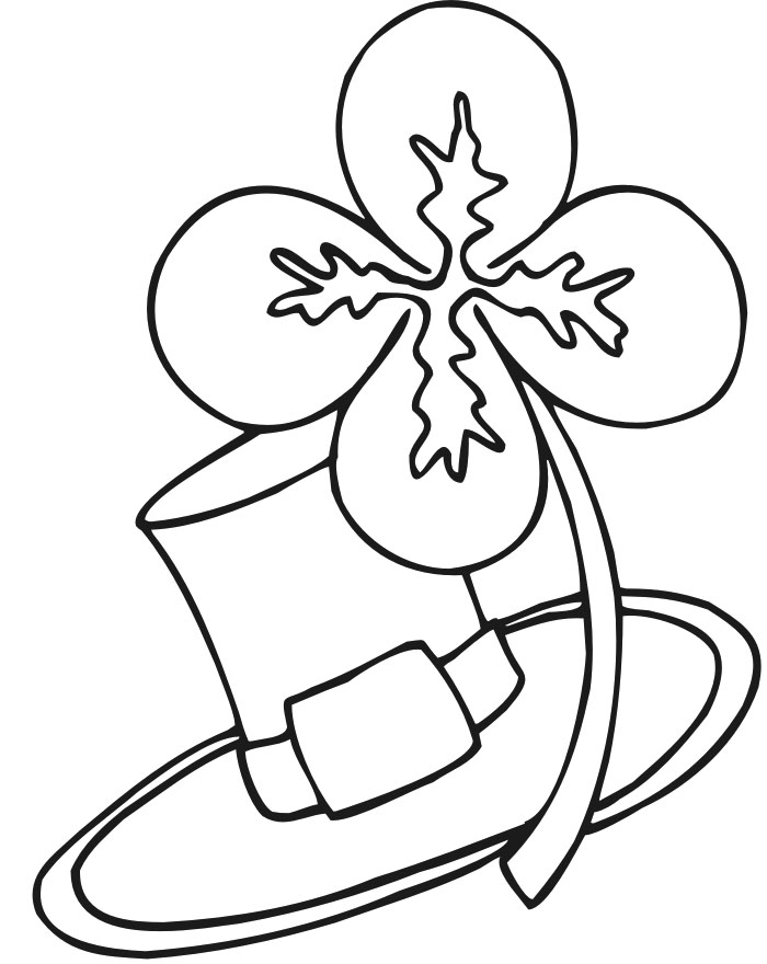 Four Leaf Clover Writing Template Download Four Leaf Clover And