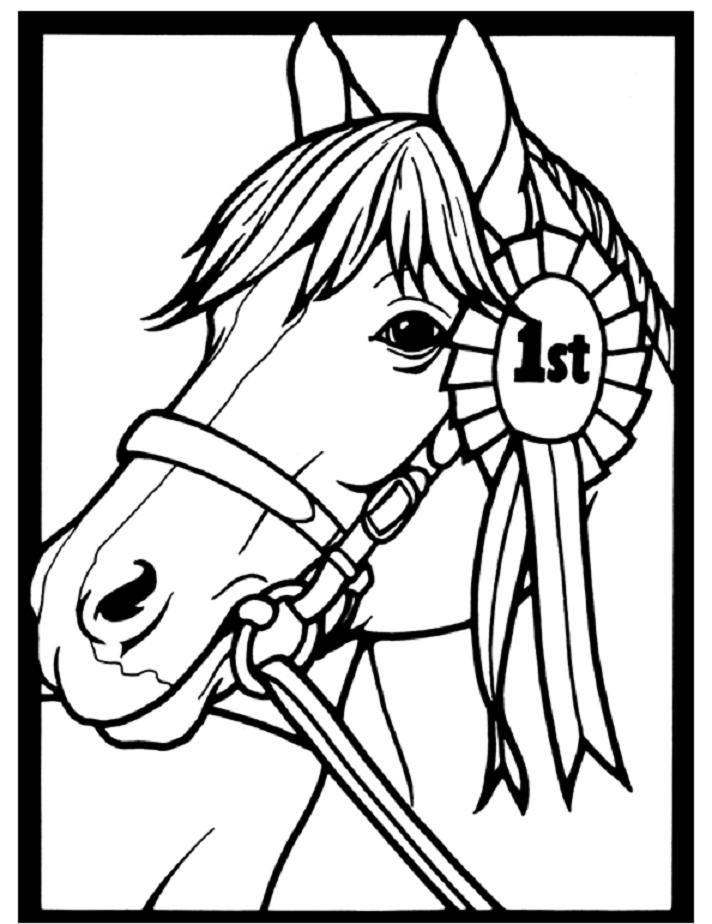 coloring pages horse head - photo#32