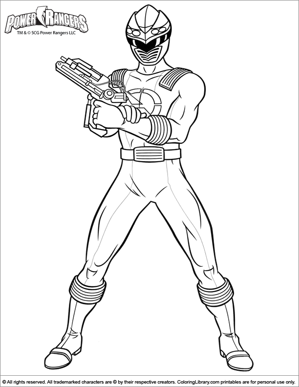 Power Rangers coloring pages in the Coloring Library