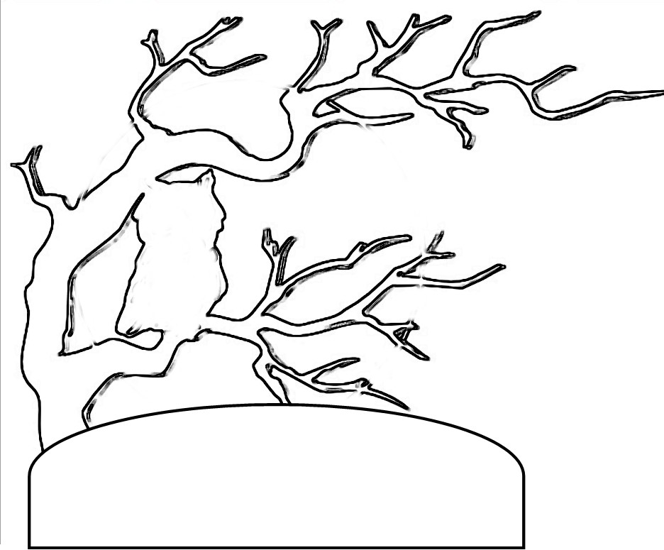 Outline Tree Az Coloring Pages Tree Coloring Page Outline
