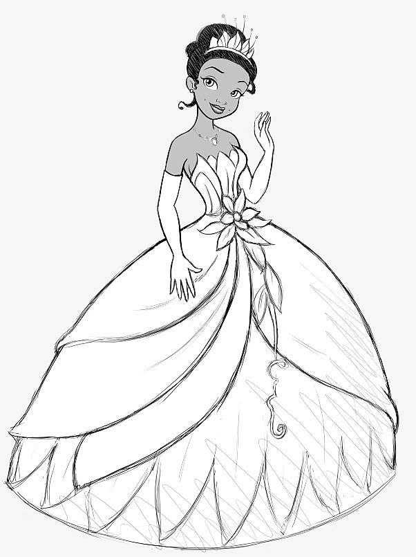 disney princess coloring pages tiana coloring for kids princess