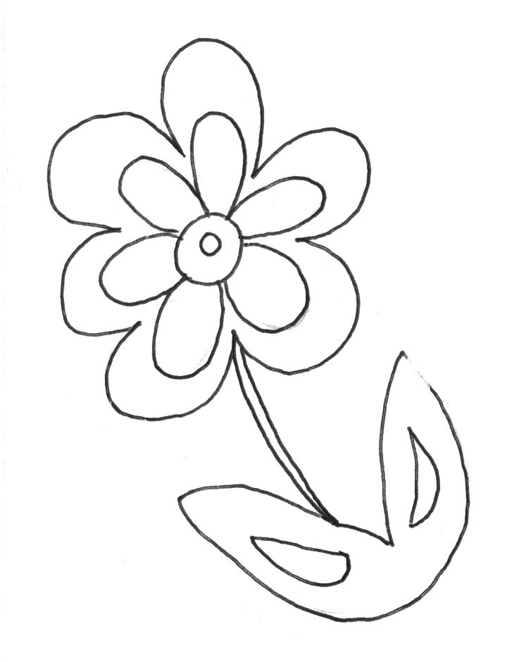 simple flower coloring pages for kids simple