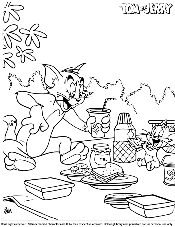 Tom And Jerry Coloring Page 9