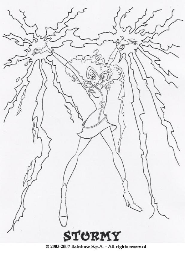 winx club witches coloring pages - photo#5