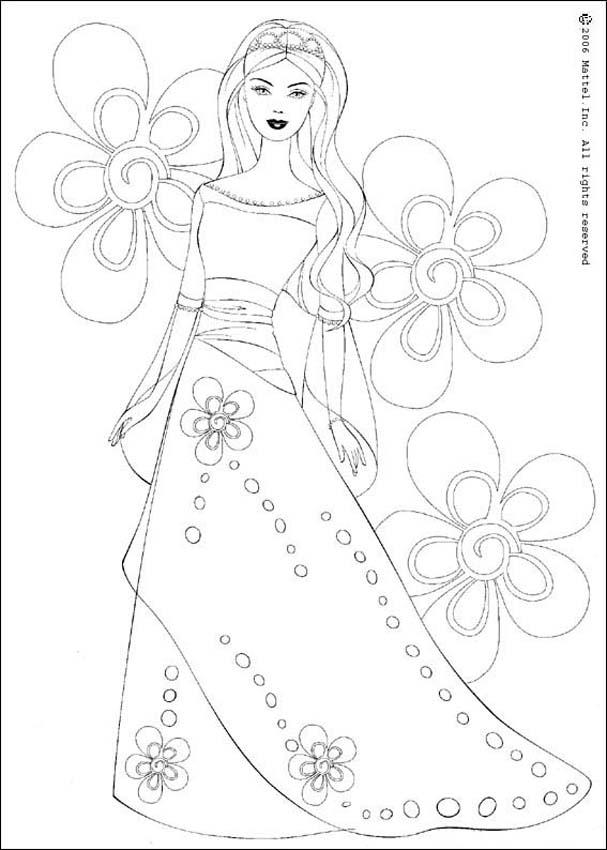 barbie doll coloring pages barbie princess